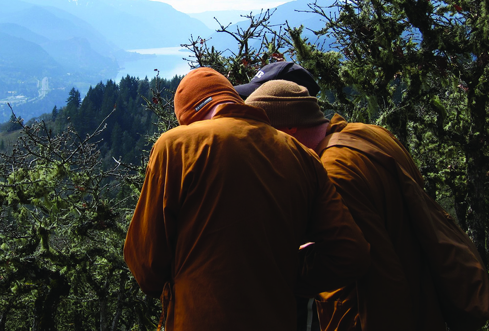 Monks discussing planning